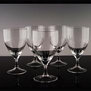 SALE West German Crystal Wine Glasses ca 1970-80