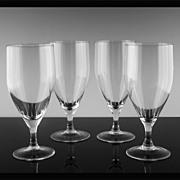 SALE West German Crystal Water/Tea Glasses ca 1970-80