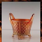 Northwood Bushel Basket in Marigold ca Early 1900's