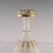 Victorian Coralene Vase ca early 1900's