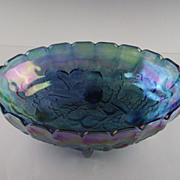 Indiana Glass Blue Harvest Center Bowl