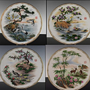 """Complete Collection Boehm """"Life's Best Wishes"""" Plates ca 1983"""