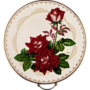"""Boehm Porcelain Collector's Plate """"The Love Rose"""" ca 1981"""