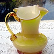 Cased Glass Miniature Pitcher by Kanawha