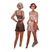 SOLD ON HOLD - Pin up Girl Cuffed Shorts Crop Top Sewing Pattern McCall 7262 Bust 32 Late 40s