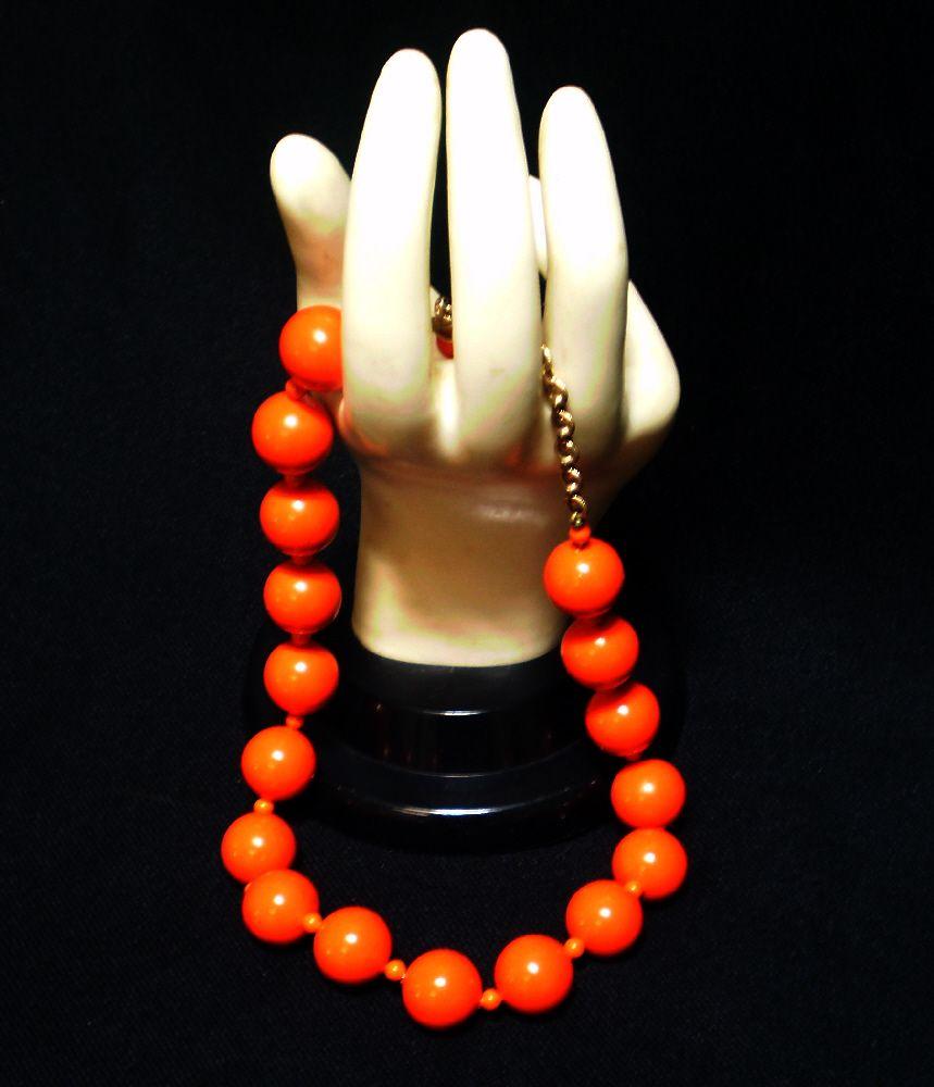 Big, Bold, Bright Orange Beads