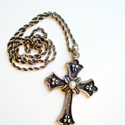 Sarah Coventry Limited Edition Cross Necklace