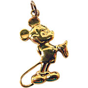 Sterling Vermeil Mickey Mouse Charm or Pendant