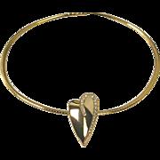 Nolan Miller Pave Accent Heart Slide and Omega Necklace