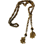 Vintage Tassel Necklace/ Rope Chain Lariat