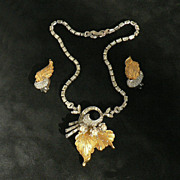 SALE Incredible Pennino Necklace and Earring Retro Set