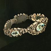 Sterling Crystal Italian Retro Bracelet