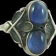 SOLD Georg Jensen Sterling Sapphire Ring Denmark 48