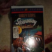 "SALE NRFP Shirley Temple VHS Tape ""Stowaway"""