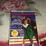 "SALE NRFP Shirley Temple VHS Tape ""Little Miss Broadway"""