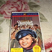 "SALE NRFP Shirley Temple VHS Tape ""Dimples"""