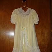 Yellow Nylon Christening Dress