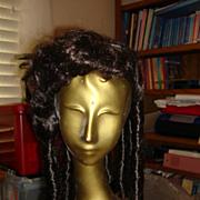 Princess Dark Brown Wig for Dolls