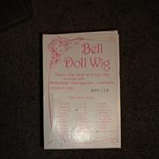 MIP Bell Doll Wig - Pale Blonde