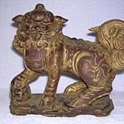 REDUCED Hand Carved Foo Dog - Temple Dog/Lion