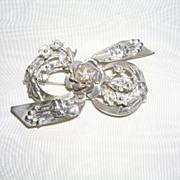 Hobe Sterling Silver Bow Flower Pin