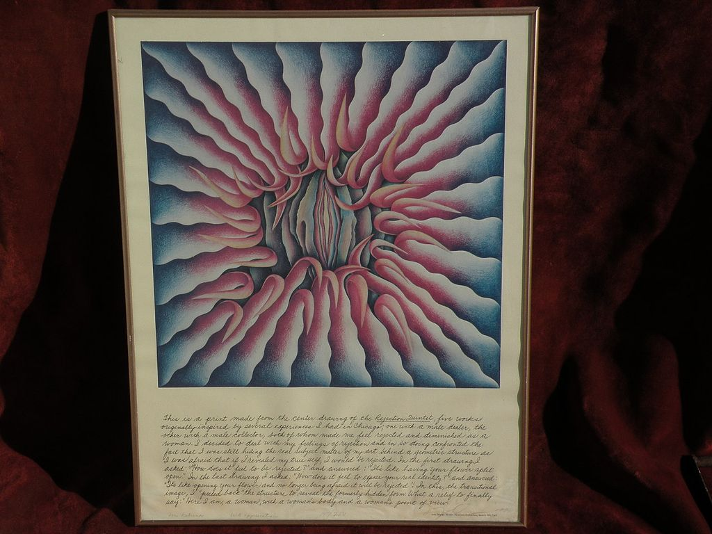 JUDY CHICAGO (1939-) American contemporary feminist art pencil signed inscribed numbered print
