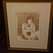 RAPHAEL SOYER (1899-1987) American 20th century art lithograph print