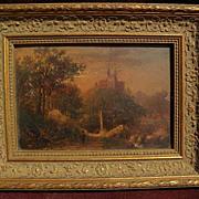 JOSEPH ANTONIO HEKKING (1830-1903) American art early European subject painting in the luminou