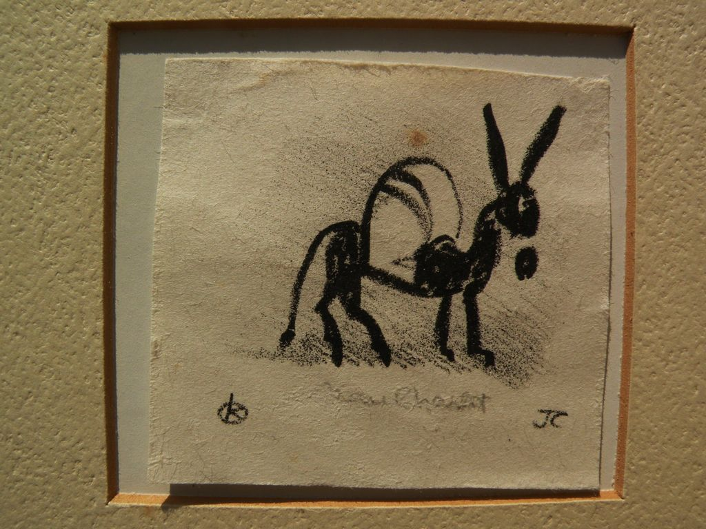 JEAN CHARLOT (1898-1979) Mexican art pencil signed lithograph print of a donkey