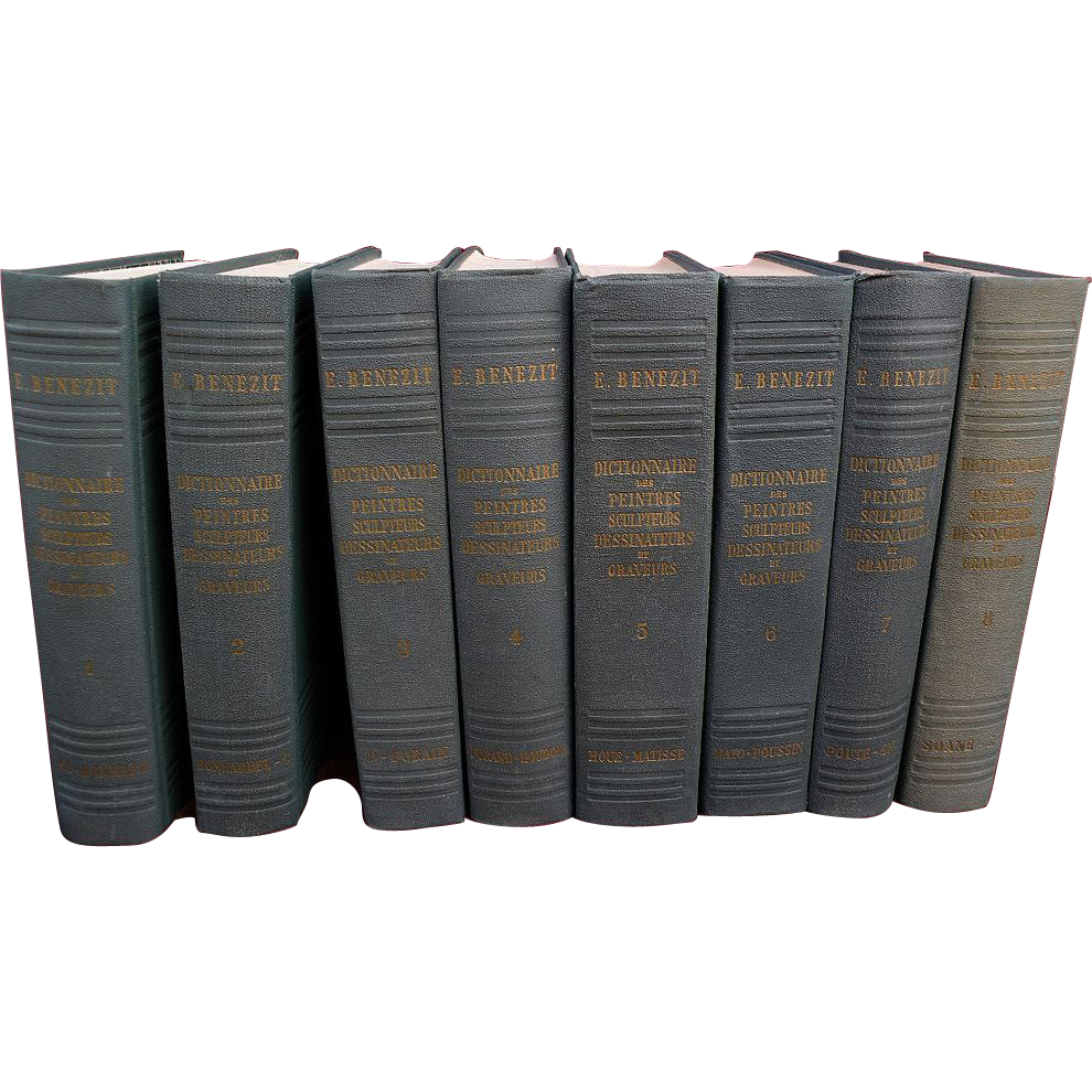 "Complete set of E.C. BENEZIT ""Dictionnaire des Peintres"" classic art reference books early 1960's edition"