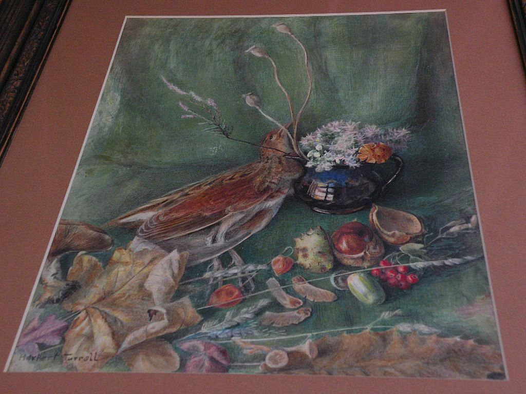 English trompe l'oeil detailed watercolor still life painting circa turn of the century or Victorian by Royal Academy artist