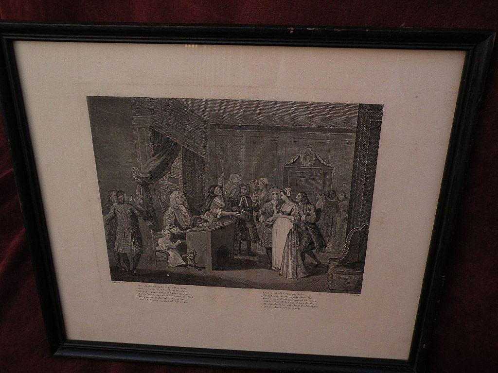 WILLIAM HOGARTH (1697-1764) English art posthumous restrike engraving by famous social satirist artist