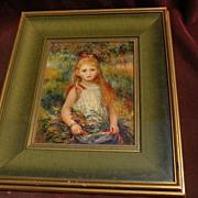 """PIERRE AUGUSTE RENOIR (1841-1919) framed reproduction print """"La Fillette a la Gerbe"""""""