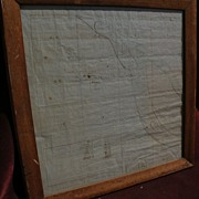 Antique mid 19th century HAND DRAWN survey map of estate near Missouri River in Cooper County,