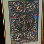 Asian art Tibetan large thangka painting