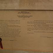 Automobilia scarce 1924 presentation proclamation to war hero and auto pioneer Eddie ...
