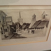 JOHN TAYLOR ARMS (1887-1953) pencil signed and inscribed 1939 etching of English town scene