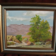 California plein air art desert landscape painting