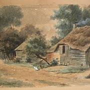 HENDRIK GERRIT TEN CATE (1803-1856) original watercolor painting by well listed Dutch artist