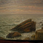 PAUL DOUGHERTY (1877-1947) impressionist coastal seascape painting by well listed American ...