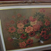 MARIUS SMITH (1868-1938) listed California art still life floral painting