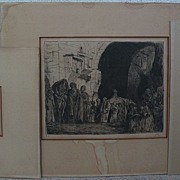 MARIUS BAUER (1867-1932) **three** pencil signed etchings of orientalist subjects by Dutch ...