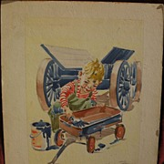 CHURCHILL ETTINGER (1903-1984) original illustration art pencil and watercolor drawing likely