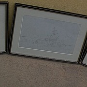 WILLIAM CALLOW (1812-1908) English 19th century art **three** fine pencil drawings of coastal