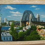 Sydney Harbour Bridge Australian art original signed contemporary oil painting