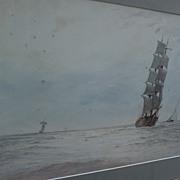 FRANK P. TYARS English marine art original gouache and watercolor painting of clipper ship dat