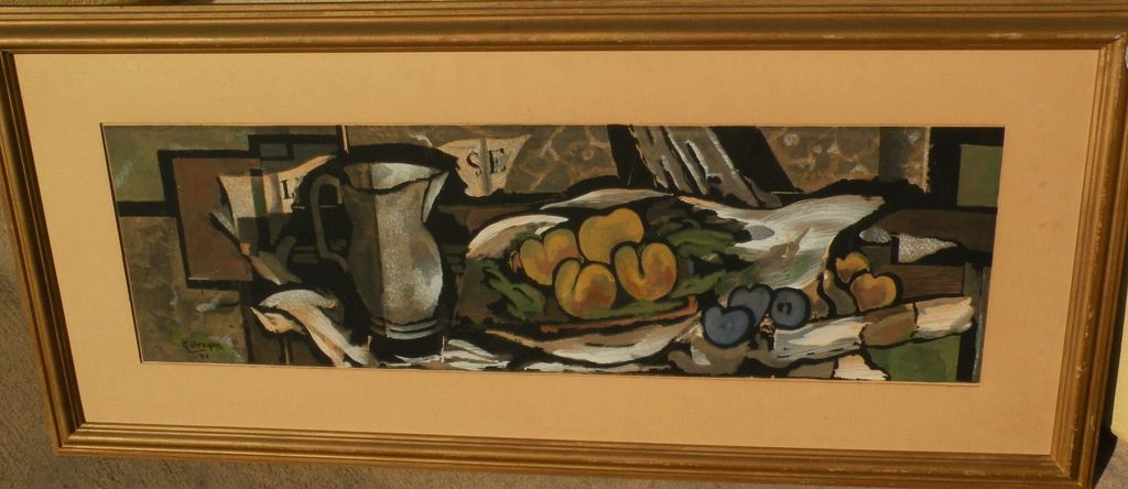 GEORGES BRAQUE (1882-1963) serigraph still life print after 1924 painting