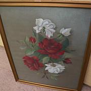 JOHN S. BOWER mid 19th century American art pastel floral still life