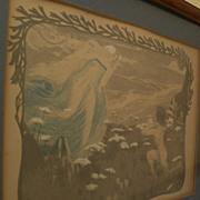 """Henri Jules Ferdinand Bellery-Desfontaines (1867-1910) original color lithograph """"L'Illus"""