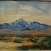 GEORGE BARKER (1882-1965) California plein air art impressionist western mountain landscape painting